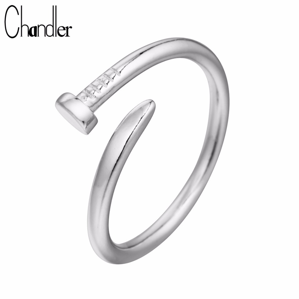 Chandler Pure 925 Sterling Silver Nail Shape Ring Maxi Midi Pinkie Knuckle Engagement Bague Women Gift Femme Bijoux Wholesale