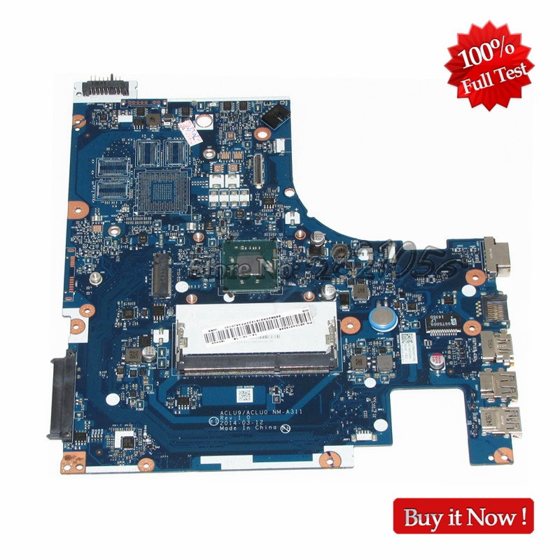 NOKOTION New PC MAIN BOARD For Lenovo G50 G50-30 Laptop Motherboard ACLU9 / ACLU0 NM-A311 N3530 CPU DDR3L hot in russian g50 30 laptop motherboard fit for lenovo aclu9 aclu0 nm a311 main board ddr3 with processor on board