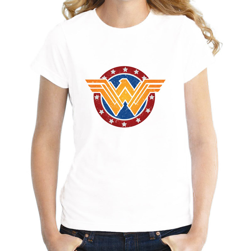 61d82f0b8 wonder women summer lovely girl T-Shirt female harajuku Print O-Neck tshirt  women graphic tees Top kawaii WTW402
