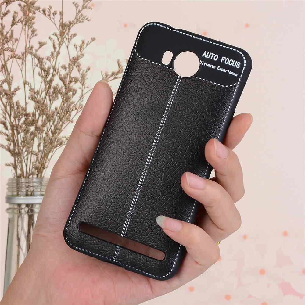 For HUAWEI Y3II 2016 4G Cases Litchi Leather Grain TPU Silicone Full  Housing Back Cover Y3 II (2016) Dual SIM Case Man's Women's