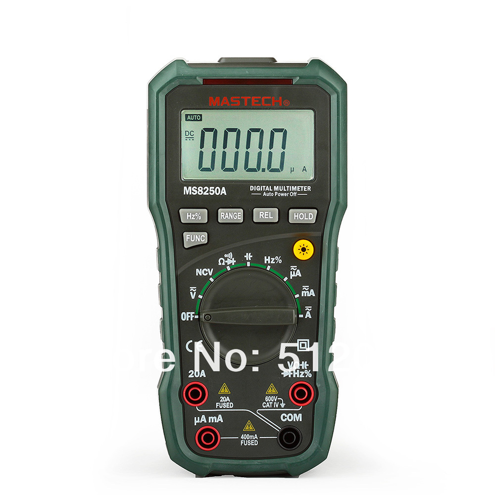 MASTECH MS8250A Digital Multimeter Auto Range Tester Detector 1 pcs mastech ms8269 digital auto ranging multimeter dmm test capacitance frequency worldwide store