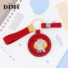 DIMY Leather Handmade Superman Keychain Car Bag Charm Cowhide Pendant Personality Creative Cute Altman Hanging Accessories