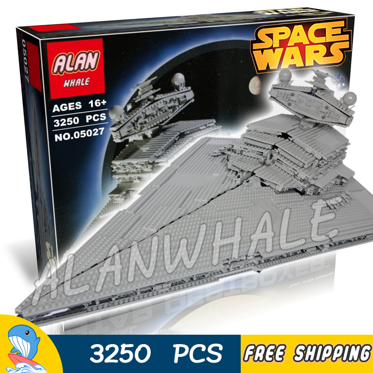 3250pcs New Space Wars universe 05027 Star Destroyer DIY Model Building Blocks Great Teenagers Toys Bricks Compatible with Lego toys in space