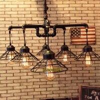 Luzes pingente estilo loft Industrial país bar cafe retro criativo lâmpada tubulação de água tubo de ferro de suspensão suspensão luz|pendant lights|hanging lights|loft pendant light -