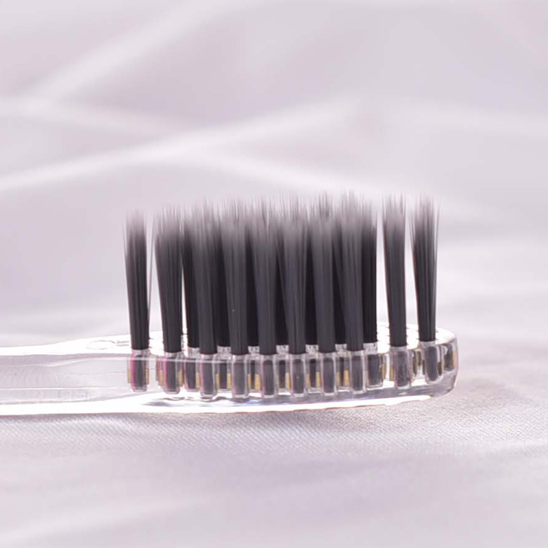 2PCS Hot Sale Beautiful Toothbrush For Filagreed Antibiotic Soft-bristle Charcoal Set Small Massage Clean Brush color random