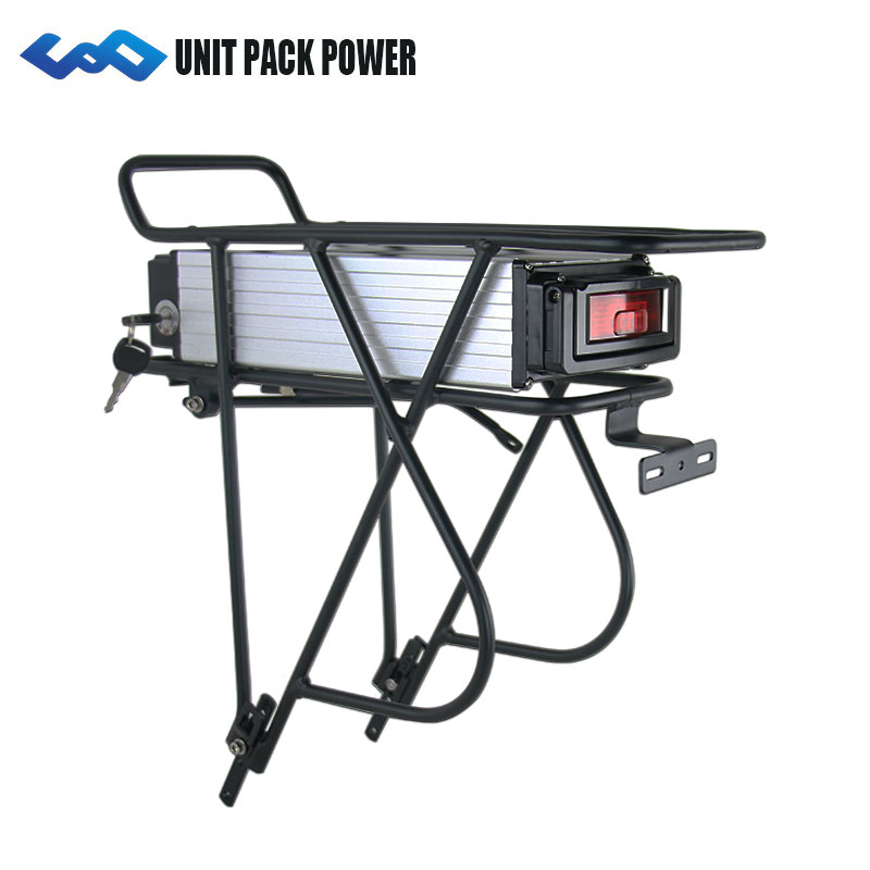 UPP 48 V 18Ah Rack Arrière Vélo Électrique Batterie 48 V Bafang Batterie avec La Queue de Lumière pour 750 W 500 W Moteur
