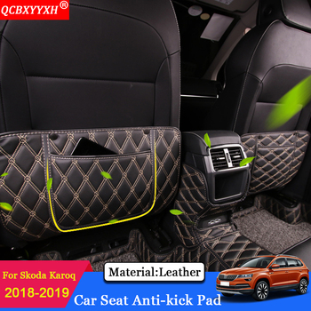 QCBXYYXH Car Styling Interior Seat Protector Side Edge Protection Pad Car Stickers Anti-kick Mat Fit For Skoda Karoq 2018 2019