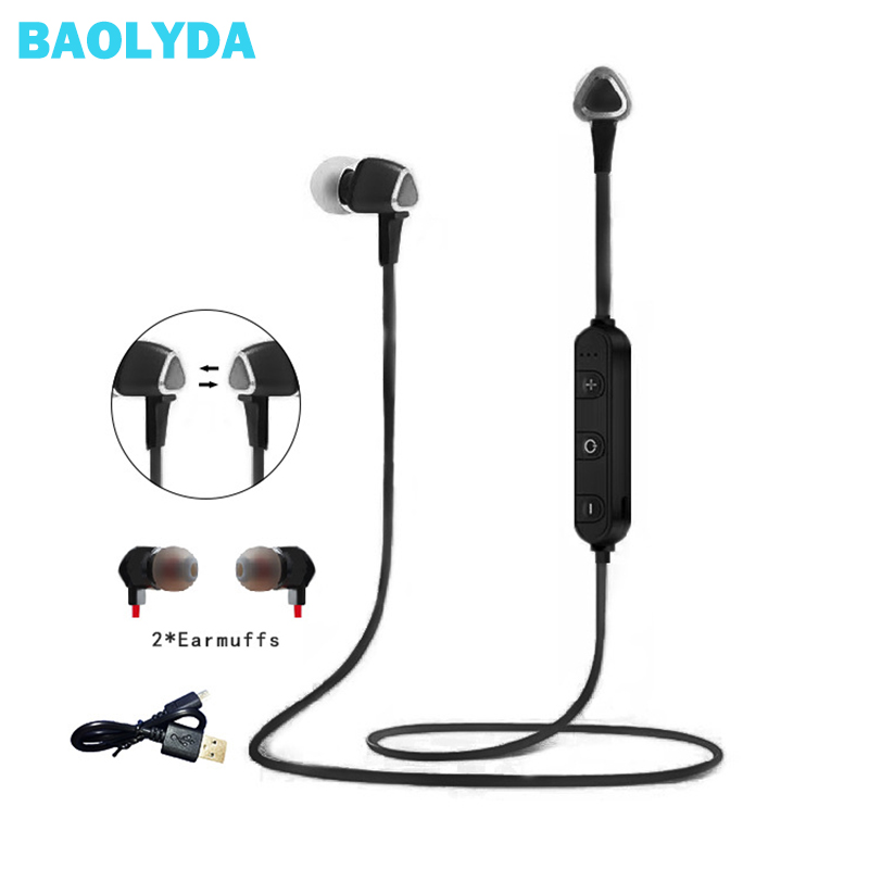 Baolyda Wireless Headphone Bluetooth Support TF Card Wireless Headphone Magnetic Stereo in ear Headphones for Huawei/Xiaomi/Sony