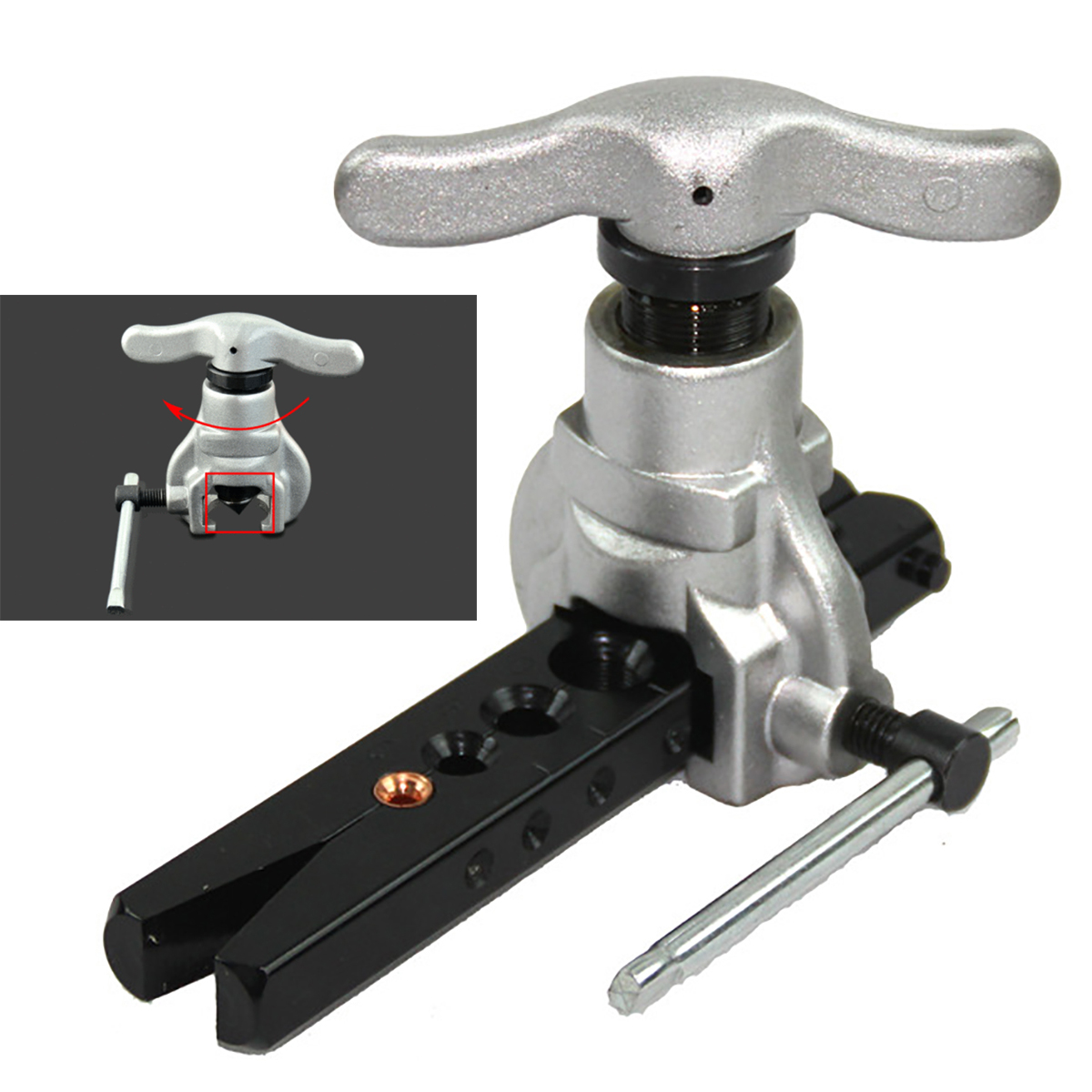 """2pcs x Eccentric Cone Flaring Tool Refrigeration 1/4"""" To 3/4"""" Copper Tube Capacity Hand tools"""