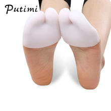 Putimi Soft Forefoot Pads Silicone Gel Pointe Toe Finger Cover Pain Protector High Heels for Feet Ballet Foot Care