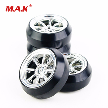 4Pcs/Set 1:10 Scale Drift Tires and Wheel Rim with 12mm Hex fit HPI HSP Racing RC Car Accessories