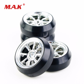 4Pcs/Set 1:10 Scale Drift Tires and Wheel Rim with 12mm Hex fit HPI HSP Racing RC 1:10 Drift Car Accessories image