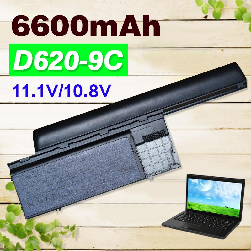 6600mAh 9 cell battery For Dell Latitude D620 D630 312-0383 312-0386 451-10297 451-10298 JD634 PC764 TC030 TD175 толстовка billabong billabong bi009embksu0