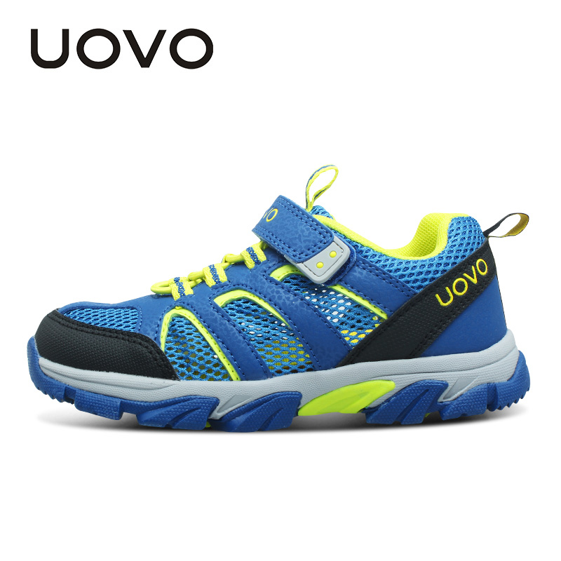 UOVO 2017 New Kids Shoes Girls Shoes Boys Shoes Outdoor Kids Sneakers Nonslip Infantil Tenis Children Trainers Chaussure Enfant uovo 2016 outdoor nonslip boys shoes kids breathable baby children shoes girls shoes tenis infantil chaussure fille size 26 35