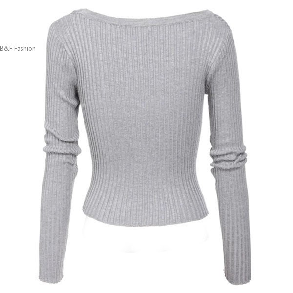 8783b8342e Women s V Neck Long Sleeve Solid Slim Fit Button Up Cardigan Sweater-in  Cardigans from Women s Clothing on Aliexpress.com