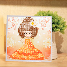 lovely style 3d puzzle resin Jigsaws wooden frame children handmade diy brain game puzzle sticker toys girl  20*20cm T002