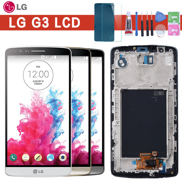 """5.5"""" Screen for LG G3 LCD Touch Screen Digitizer Assembly with Frame LG G3 Display D850 D851 D855  Replacement"""
