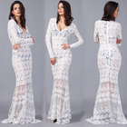Save 1.35 on Fashion Sexy Brand Summer Dress Casual Lace Summer Style Vestidos De Festa Maxi Dress Tropical Women Dress Femininas