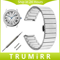 16mm 18mm 20mm Quick Release Watch Band for Cartier Tank Santos Ronde Solo Stainless Steel Strap Butterfly Buckle Wrist Bracelet