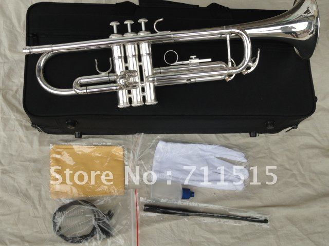 manufacturers selling customized trumpet s type small brass instruments surface silver bb. Black Bedroom Furniture Sets. Home Design Ideas