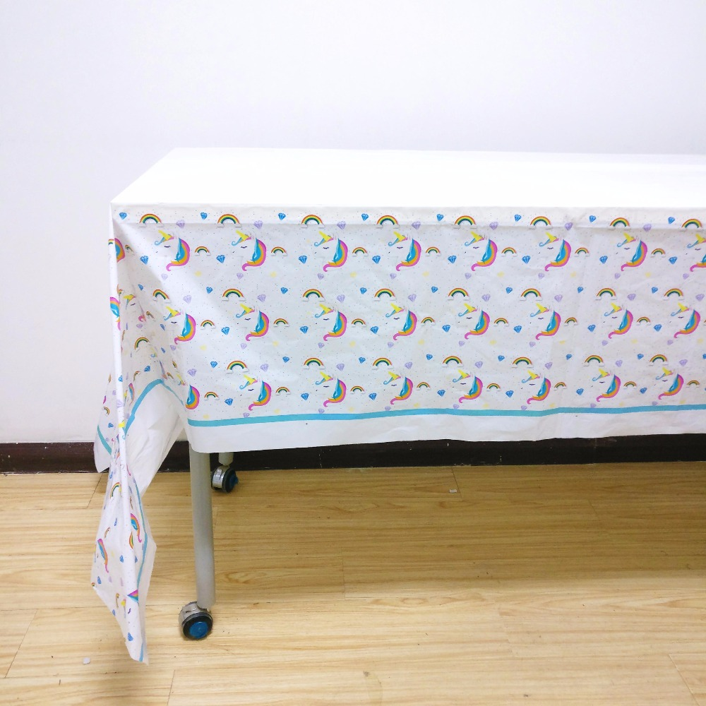 Unicorn tablecloths kid birthday party supplies table cover baby shower festival party d ...