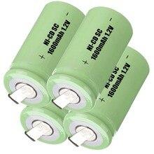 Ni-cd de Substituição Verdadeira Capacidade! 4 Pcs SC Bateria Recarregável 1.2 V Banco Potência 1600 Mah Acumulador Batteria