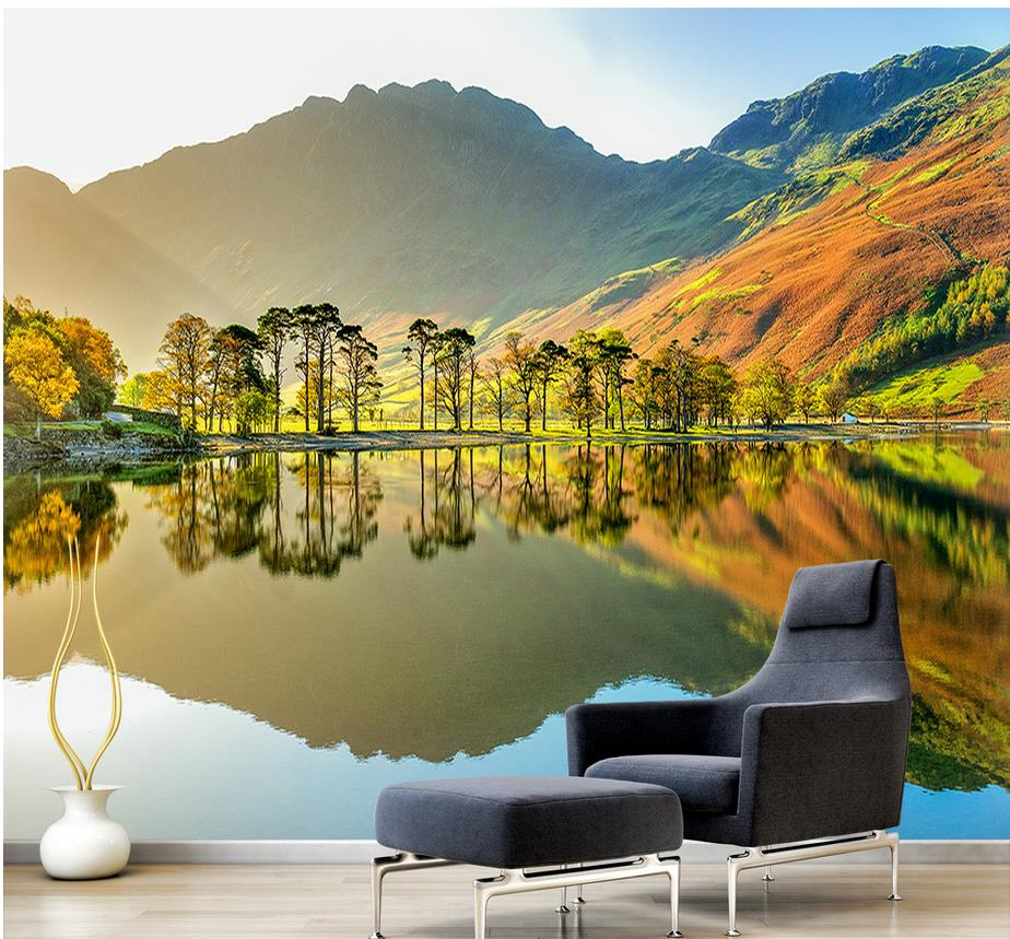 US $12 6 OFF Custom 3d Wallpaper Design Of Natural Scenery Mural Backdrop 3d Wallpaper For Room 3d Landscape Wallpaper 3d Wallpaper Custom 3d