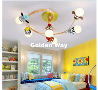 Free Shipping Kids Bedroom Cartoon Surface Mounted Ceiling Lights Modern Children Ceiling Lamps E27 Lighting LED Bulbs Included