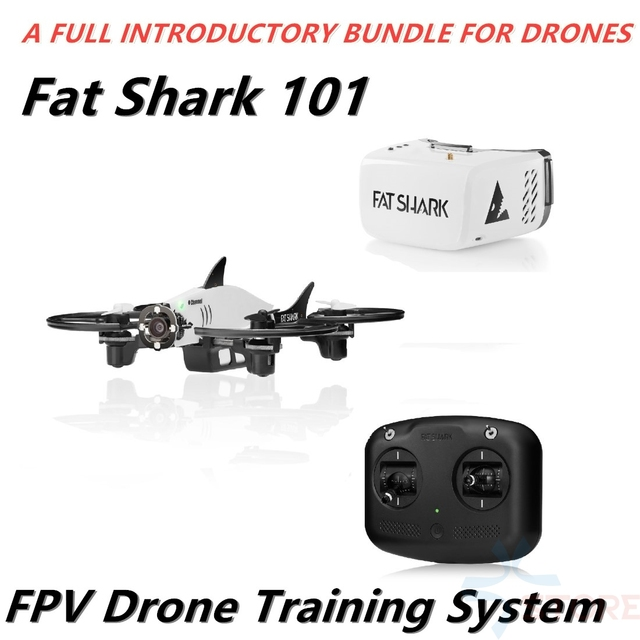 US $329 0 |Fat Shark 101 Training System Micro RC Drone Quadcopter With  5 8G 32CH Recon V1 FPV Goggles FPV Drone RTF Starter Combo-in RC  Helicopters