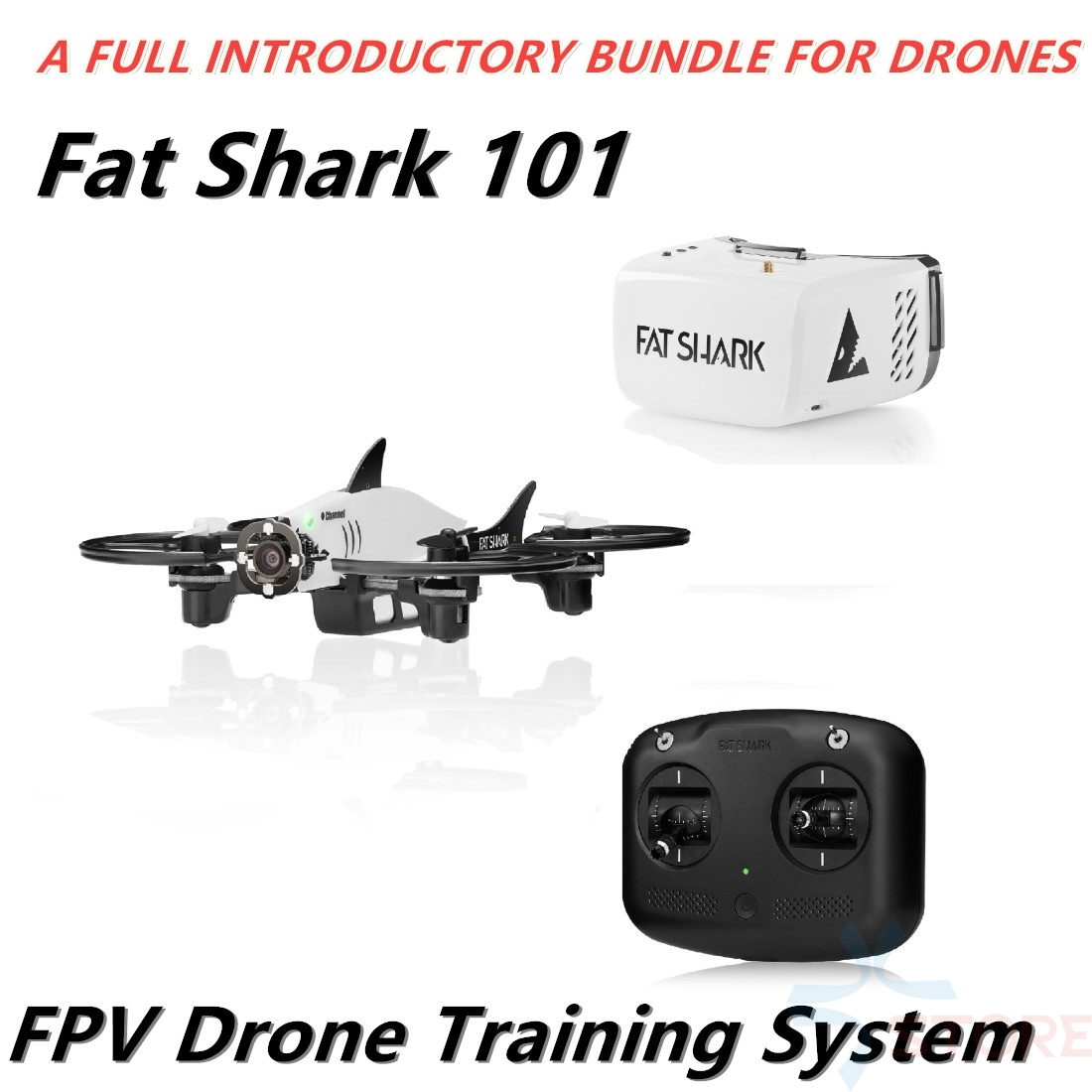 Fat Shark 101 Training System Micro RC Drone Quadcopter With 5.8G 32CH Recon V1 FPV Goggles FPV Drone RTF Starter Combo image