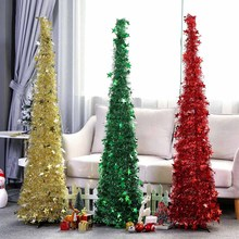 1.2M Detachable Christmas Tree Bling DIY Christmas New Year Decorations Metal Stand For Home Holiday Kids Room Hallway