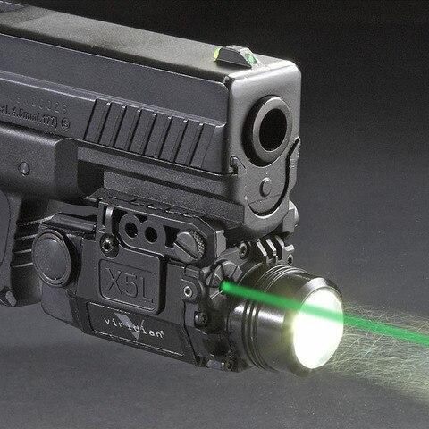 trijicon 2in 1 x5l led lanterna combo verde mira laser pistola universal mira laser pistola