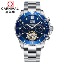 2019 Switzerland Carnival tourbillon men watch luminous luxury brand mechanical watches men full steel clock reloj uhr kol saati