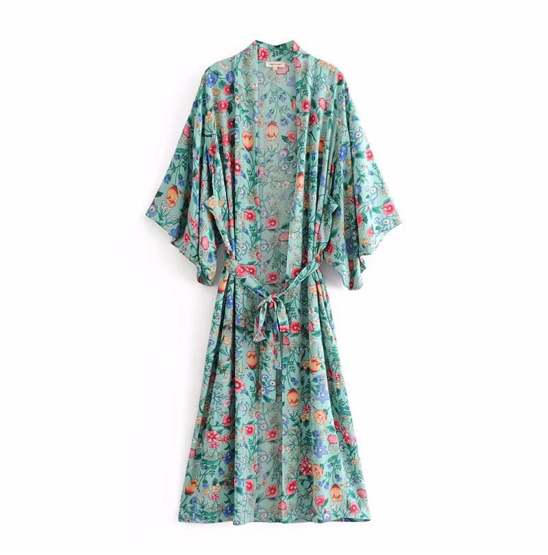 348b5b2835d Buy green kimono dress and get free shipping on AliExpress.com