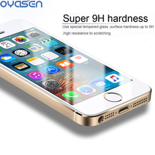 2 pcs/lot Front + Back 9H Premium Tempered Glass for iPhone 5 5s 5c Anti-scratch 0.26mm  2.5D Arc Edge Screen Protector Film premium tempered glass flat edge screen protector for iphone 5 transparent