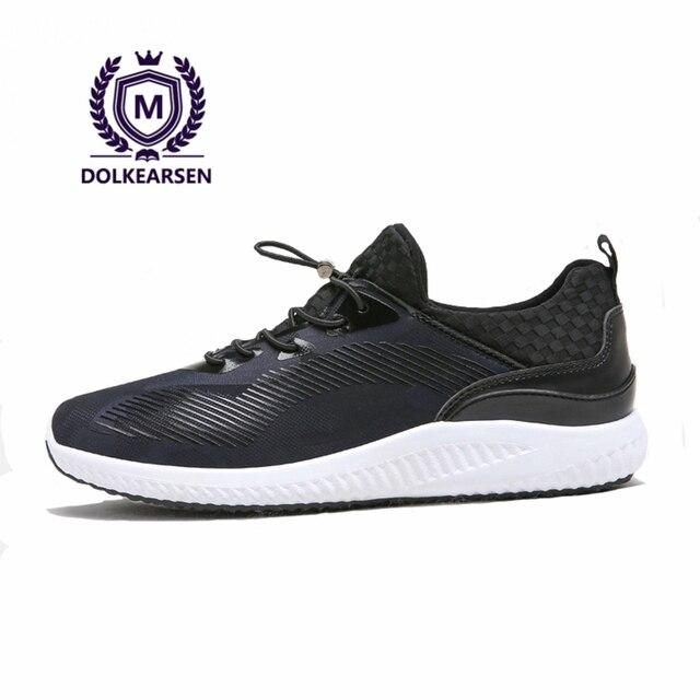 DOLKEARSEN 2017 Черные Мужчины Повседневная Обувь Кроссовки камуфляж Дышащие Чистая Марка Легкие Мужчины Студент Обувь D160801-1