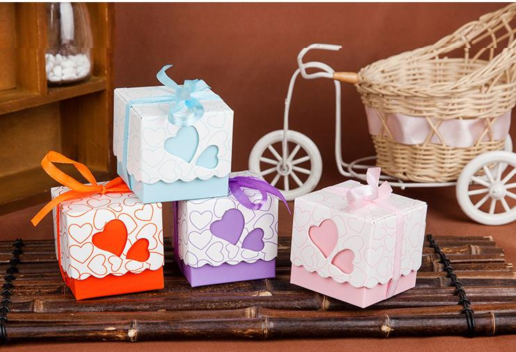 3000pcs/lot Casamento Candy box/Bombonera/candy jar, candy packaging/wedding gift/cart/chocolate box, heart bonbonniere ...