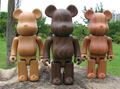 Black Walnut Wood Bearbrick Beech wood Be@rbrick 100%(7cm)/ 200%(14.5cm) /400%(28cm) RoseWood teddy bear Dolls