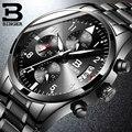 Спортивные стильные мужские многофункциональные кварцевые часы  водонепроницаемые аналоговые часы с 3 глазами  секундомером  календарем  п...