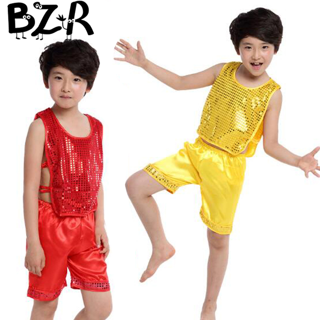 f11fa85ba Bazzery jazz suit for boy performance clothing dance clothes children  ballroom attire party stage jazz dance dress costume