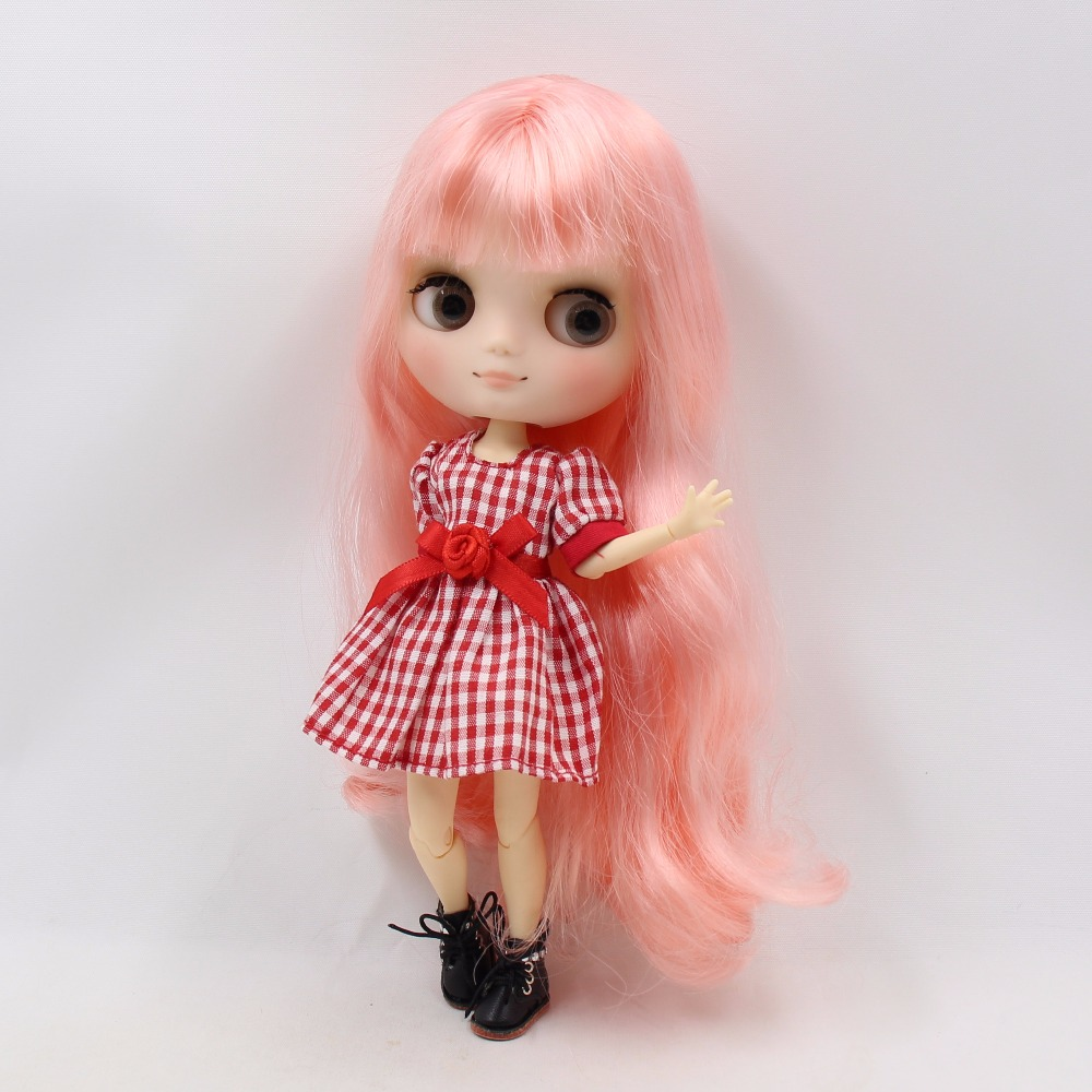 Middie Blythe Doll Pink Hair Jointed Body 20cm 2