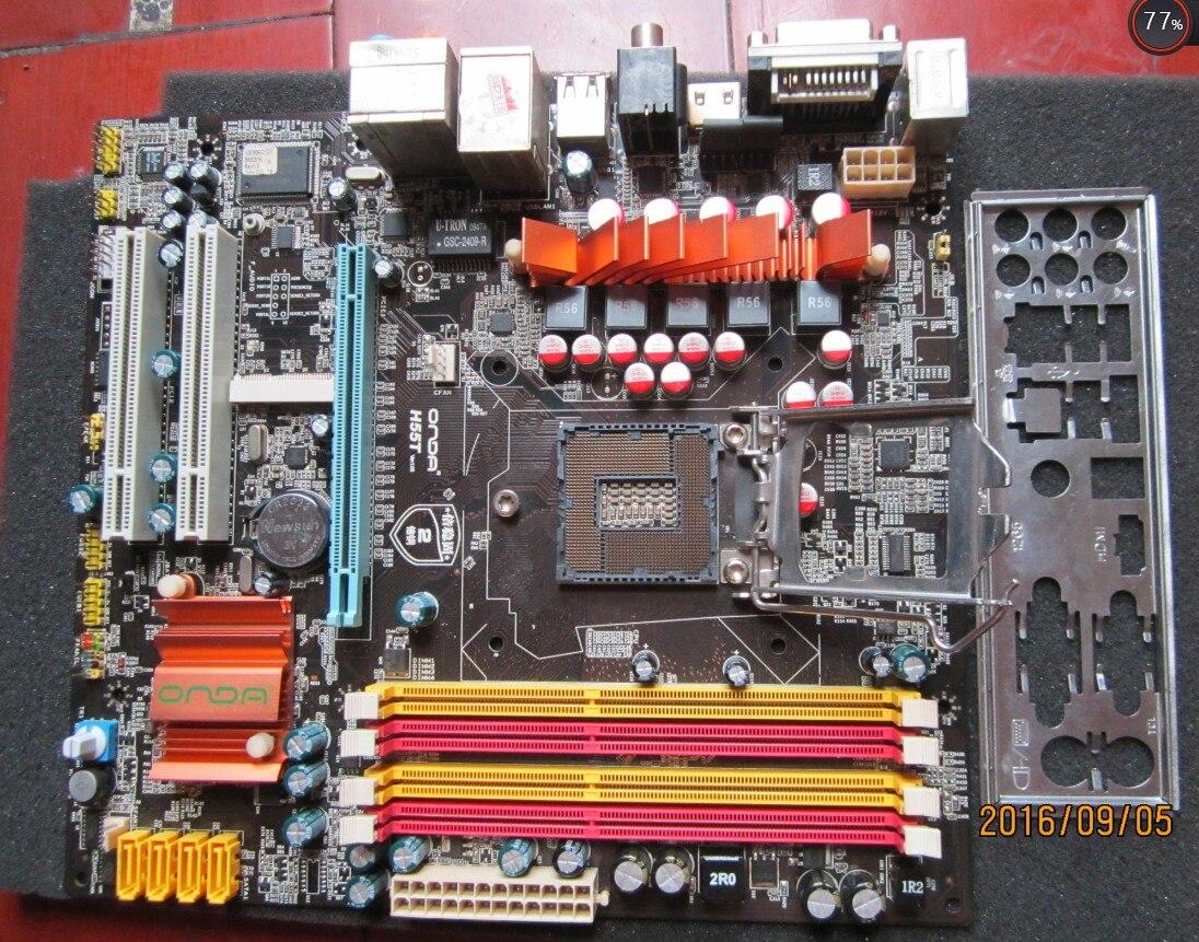 Utilisé original pour Onda H55T VGA + DVI + HDMI 1156 DDR3 H55 carte mère