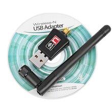 300 Мбит/с Беспроводной адаптер Wi-Fi с 2dB Телевизионные антенны USB Wi-Fi приемник LAN сетевой карты 802.11N/B/G для pc настольный компьютер
