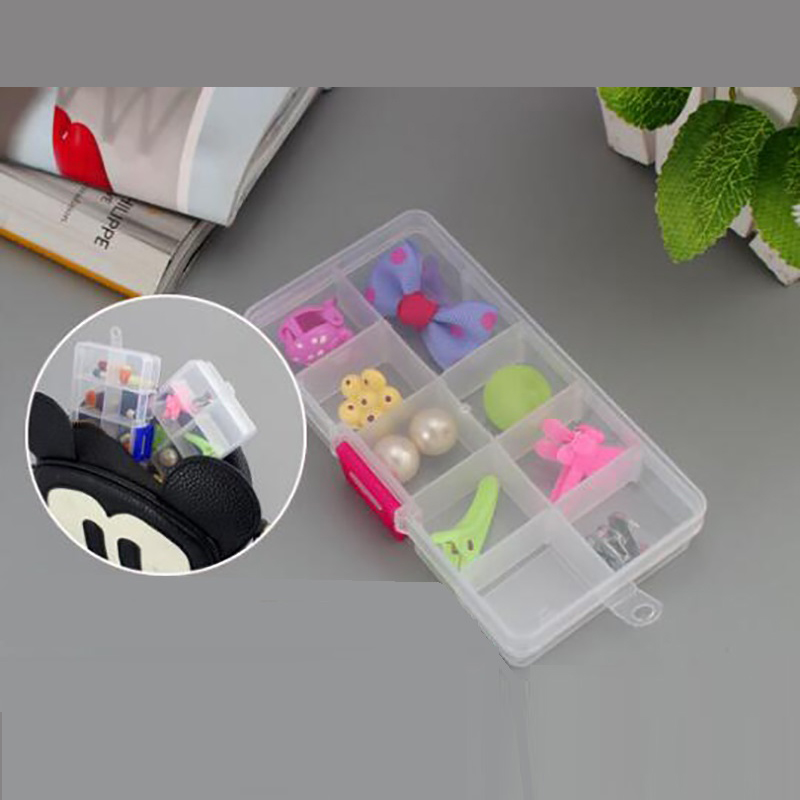 Plastic 10Grids Adjustable Jewelry Box Beads Pills Nail Art Storage Box The Office Housekeeping Organization Small Parts Storage Pakistan