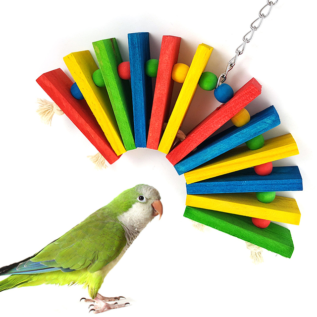 Colorful Wooden Toys for Birds