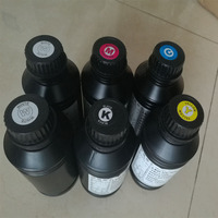 Die uv tinte 4 farbe + 2 weiß uv tinte für inkjet flachbettdrucker UV|ink uv|ink colorink for inkjet printers -