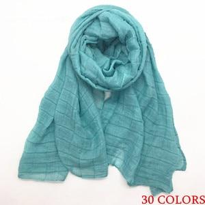 Image 5 - Bán Nhăn Nhúm Thun Nữ Khăn Choàng/Khăn Choàng Dập Nổi Lưới Chân Vững Chắc Sợi Viscose Mềm Mịn Hồi Giáo Hijabs Đeo 10 Cái/lốc Nhanh vận Chuyển