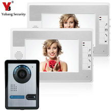 YobangSecurity 7″Inch Video Door Phone Video Door Entry System Intercom Doorbell Home Security Kit 1 Camera 2 Monitor