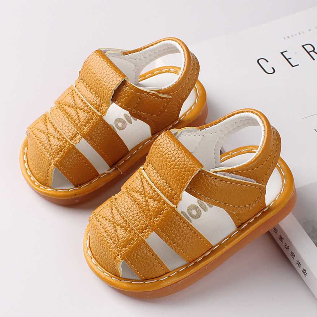 Summer Shoes Sandals Baby-Girls-Boys Roman Kids Beach NEW First Newborn Walkers title=