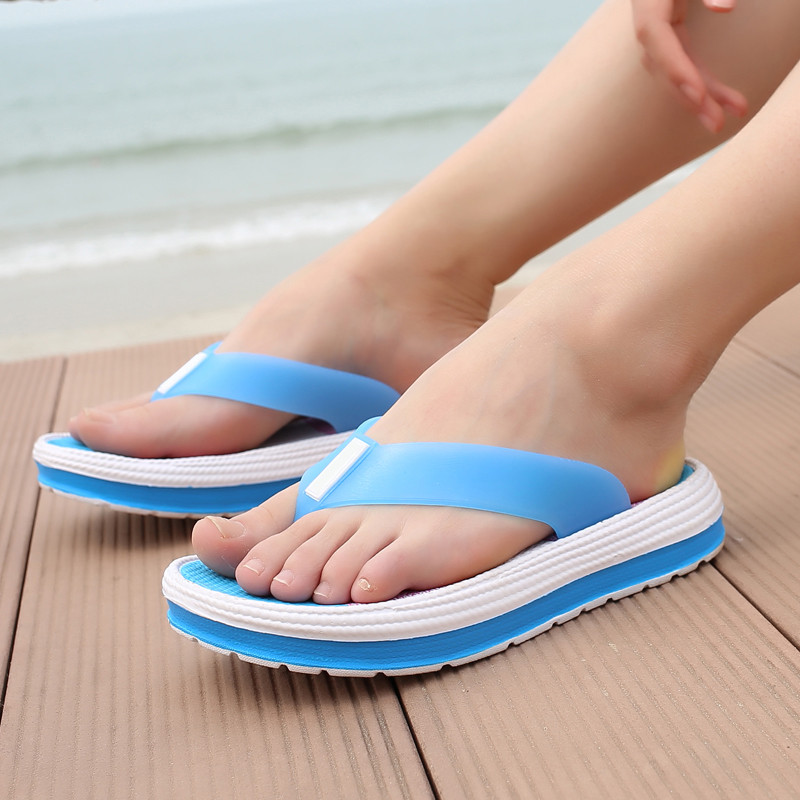 9953b41550a0f Women s Platform Sandals Summer Shoes Woman Beach Flip Flops Women s  Fashion Casual Breathable Ladies Flats Shoes Thongs 8H0155